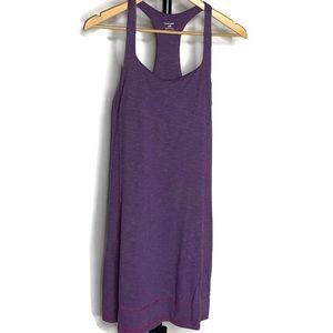 Horny Toad Purple Scoop Neck Razorback Midi Dress